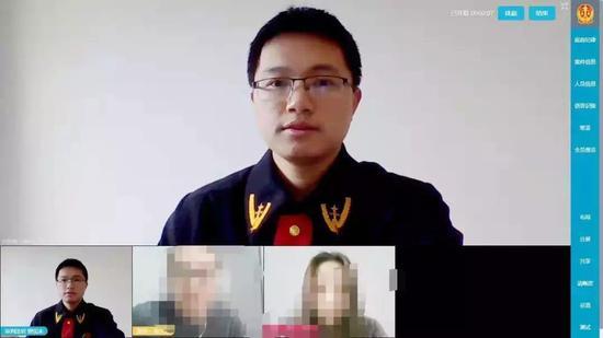 杭州互联网法院法官线上办案。  互法宣 供图