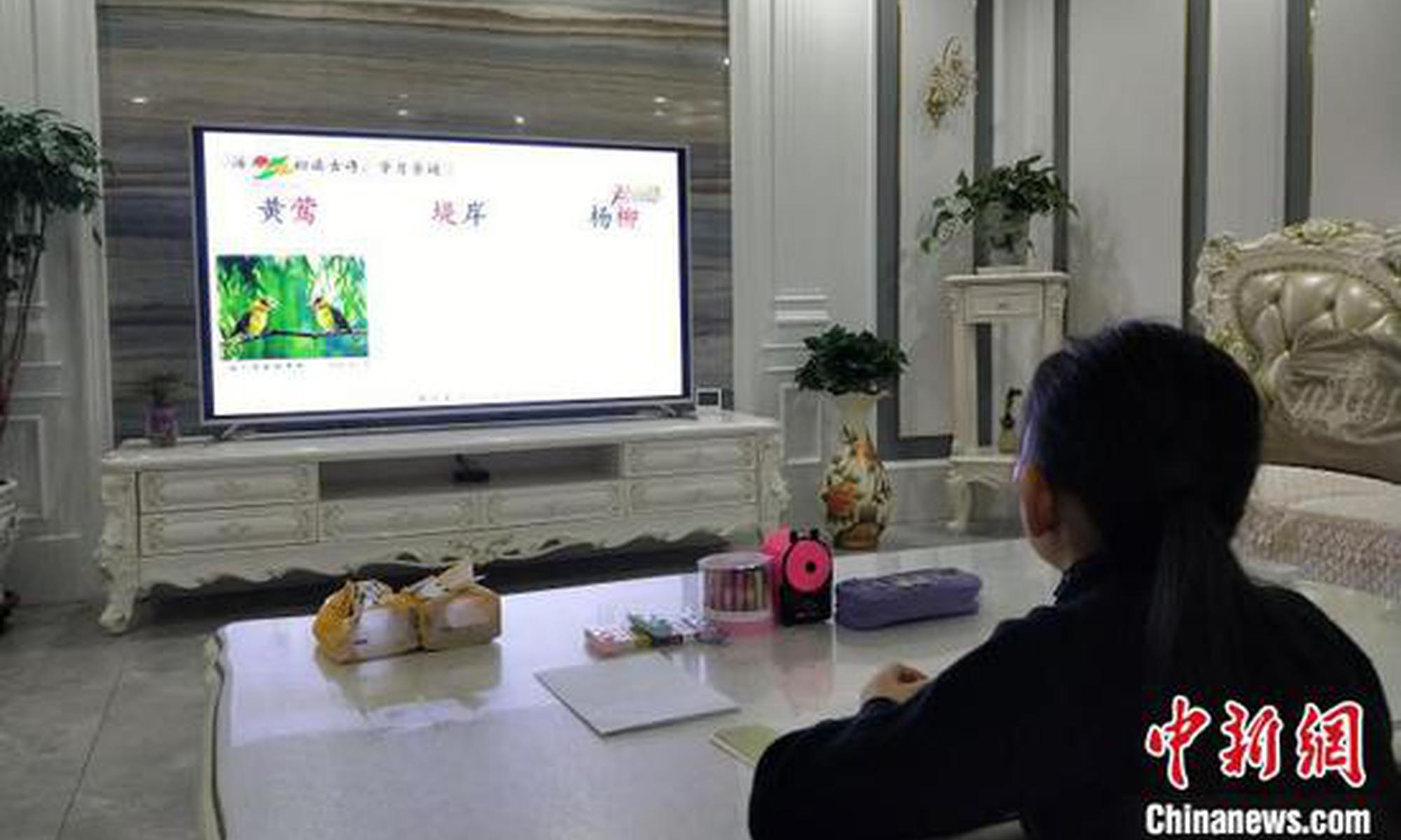 """""""開學第一課""""""""空中""""開課 疫情下寧夏師生線上互動"""