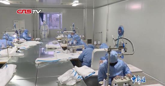 新疆8天建成日產千套醫用防護服生產線 24小時批量生產
