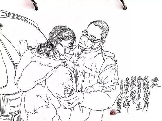 浙传教师速写白衣天使 定格战疫勇士最美瞬