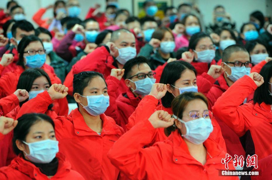 广西第七批支援湖北医疗队出征