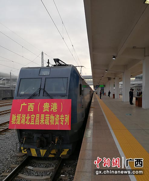 广西贵港首次以专列形式组织物资
