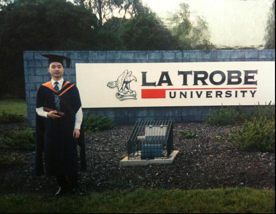 林东在澳大利亚留学,攻读工商管理硕士学位。 LHD提供