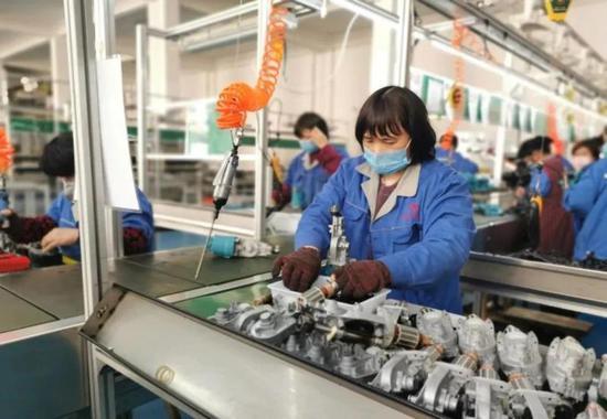 婺城各地因地因时、分类有序推进企业复工复产。婺城宣传部提供