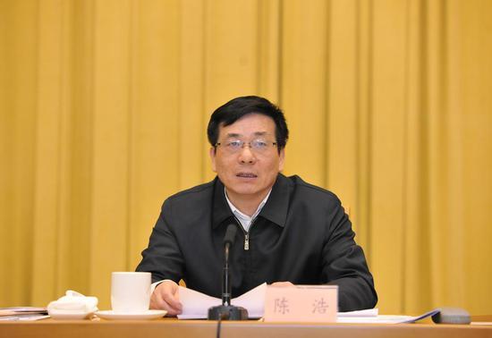 浙江省委统战部副部长、浙江省工商联党组书记陈浩。胡海英 摄