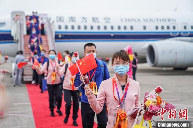 广西第六批援湖北医疗队返抵南宁