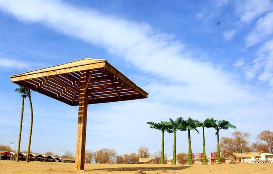 图为新疆和硕县金沙滩海岸。贾洪明 摄