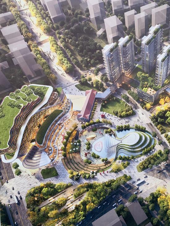 杭州新世界项目效果图。 郭其钰 摄