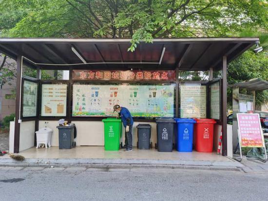 東方和園小區垃圾分類投放點 潘斐斐 攝