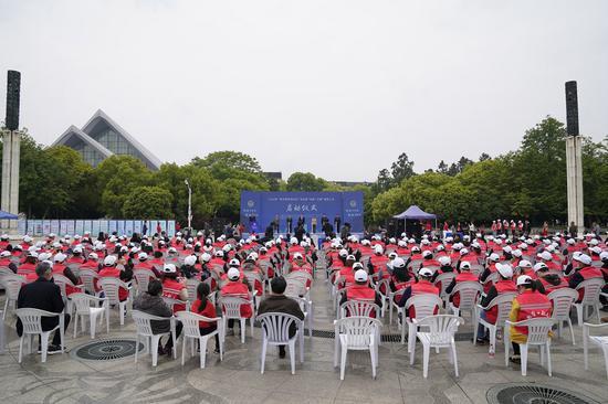 活动启动仪式现场。  绍兴市综合行政执法局提供