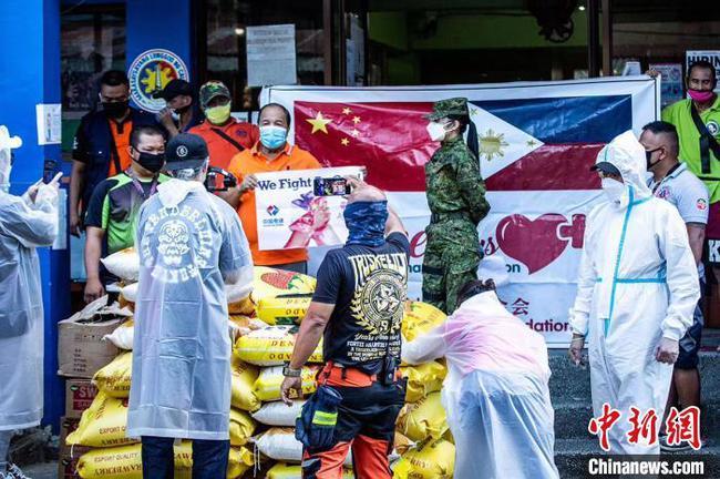 中國電建菲律賓代表處攜手愛+基金會向菲民眾捐5噸大米共渡難關