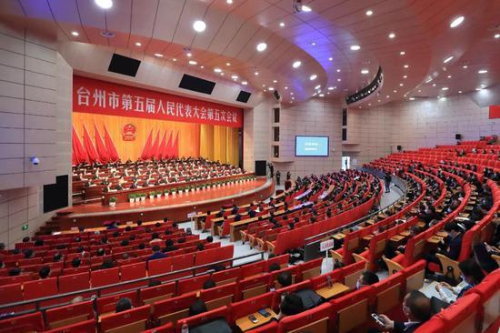台州市第五届人民代表大会第五次会议   台州发布供图