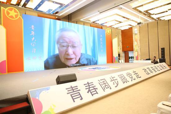 寧波籍院士徐志磊與青年人才分享人生感悟。  鄞才軒 攝