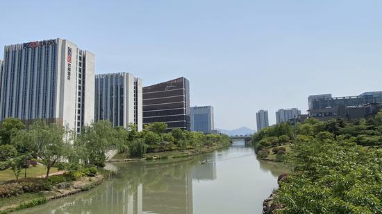 浙江杭州某河道。  錢晨菲 攝