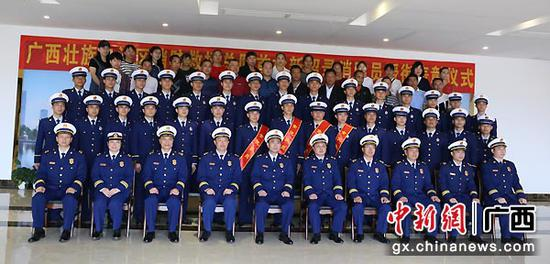 广西首批新招录消防员获授衔表彰