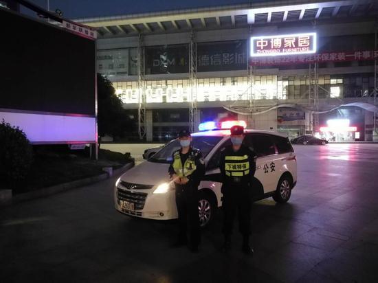 杭州下城警方执勤。 杭州警方 供图