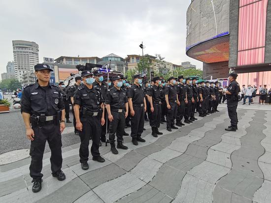 杭州上城公安执勤现场。 杭州警方 供图
