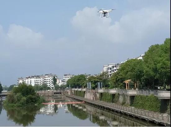 无人机巡查河道  云和宣传部提供