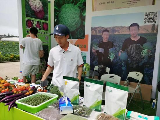 参展公司展示瓜菜新品种。 浙江省农业厅 供图