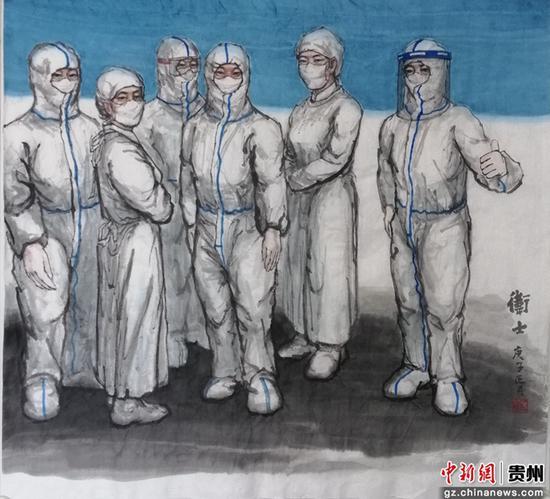 石宇金沙网上平台画作品《卫士》
