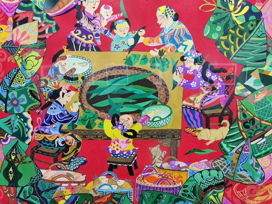 渔民画生动地表达了海岛特色民俗文化。 洞头宣传部供图
