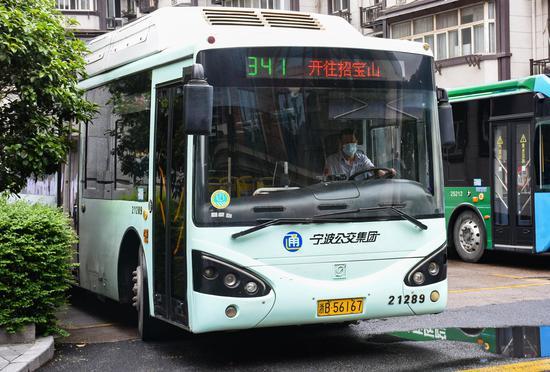 """""""新版""""341路公交。  宁波公交提供"""