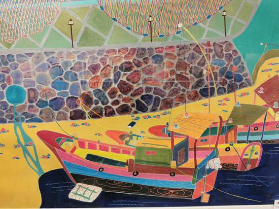 渔民画生动地表达了渔民生产、生活的场景。 洞头宣传部供图