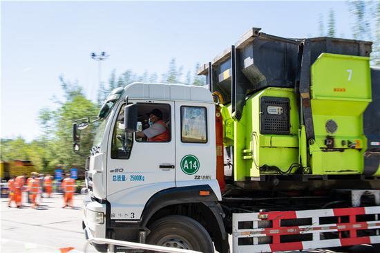 乌鲁木齐市水磨沟区总工会开展第二届环卫车辆技能竞赛