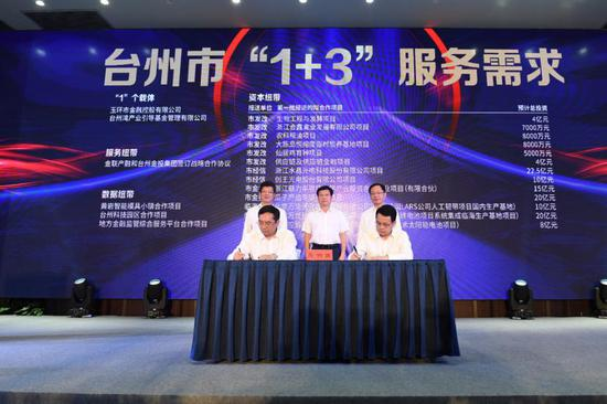 浙江金控與臺州市政府簽訂戰略合作框架協議 商澤陽 攝
