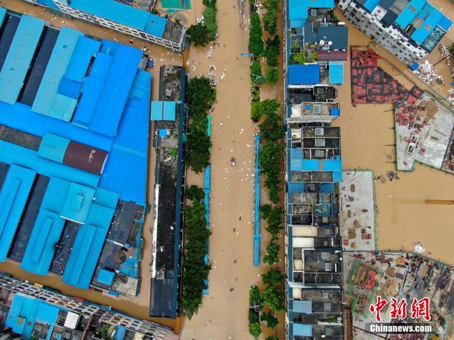 廣西洛清江超警戒水位5米
