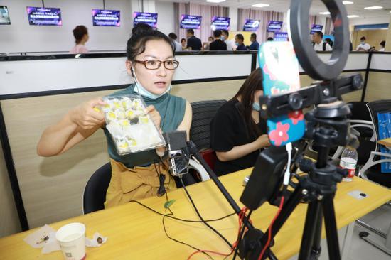新疆库尔勒开发区直播带货大赛 1小时销售特产1.8万余单