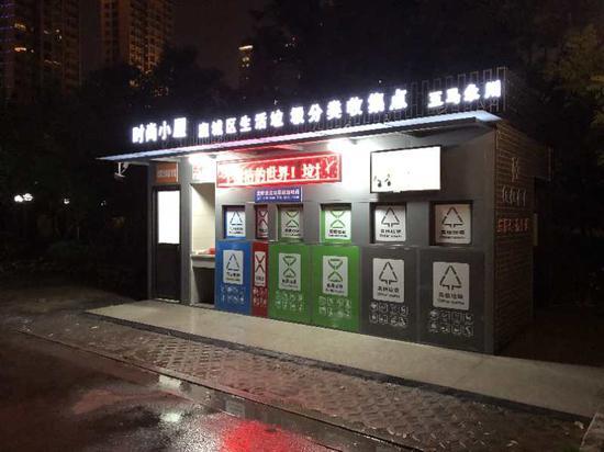 """垃圾分類""""時尚小屋""""。  鹿城區綜合行政執法局供圖"""