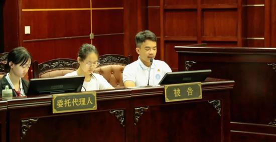 sunbet举办环境公益诉讼模拟法庭。 朱智翔 供图