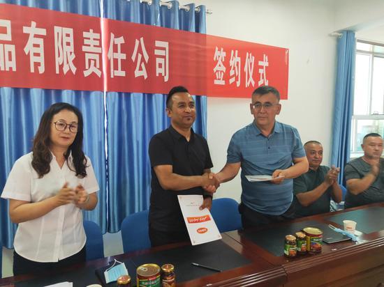 64家外地客商组团采购价值1100万元新疆焉耆特产