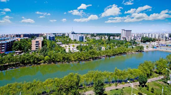 新疆沙雅县推进公园城市建设 提升群众幸福指数