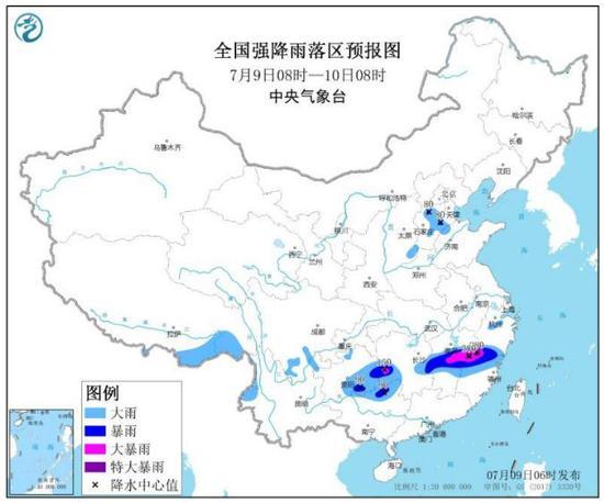 貴州至長江中下游地區仍有強降雨