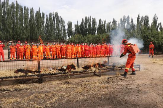 新疆森林草原消防应急分队南疆四地州(阿克苏)集训班开班