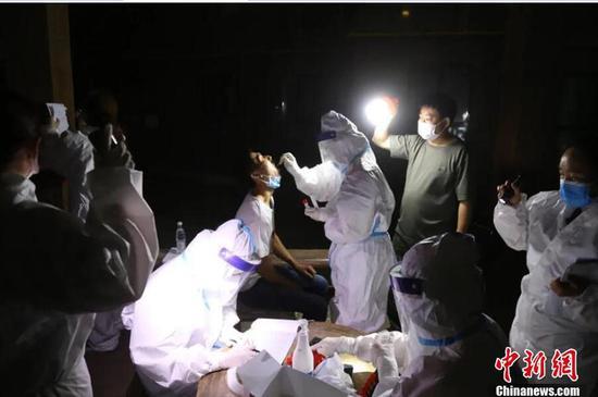 应检尽检 新疆兵团核酸检测工作有序开展