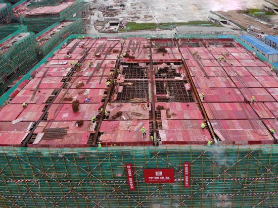 中建国际投资sunbet公司加速恢复生产建设,高效有序推进复工复产工作  中建国际供图