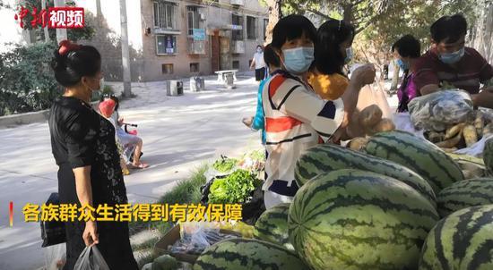 喀什地区各大市场物资供应充足 民众生活有保障