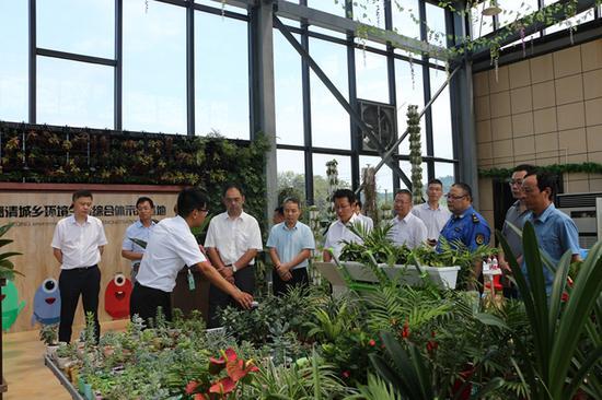 专家参观德清县城乡环境生态综合体示范基地 舞阳街道提供