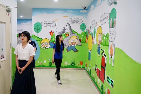 涂鸦墙。 鄞州民政局供图