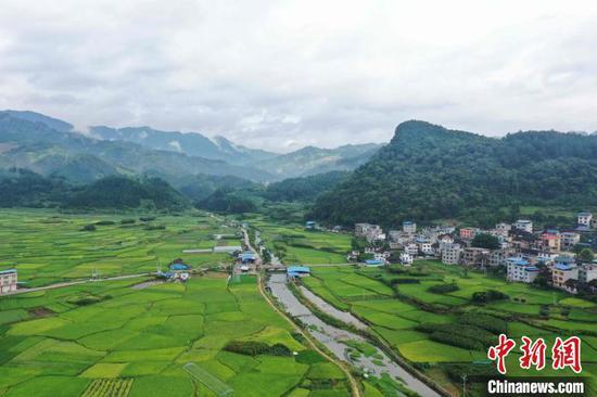 贵州省从江县贯洞镇龙图坝区(无人机照片)。 吴德军 摄