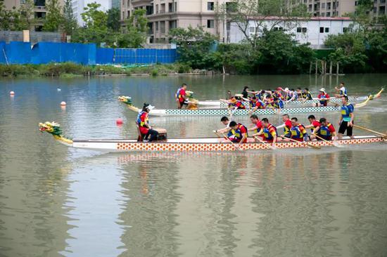 温州龙舟公园龙舟赛。 温州市体育局 供图
