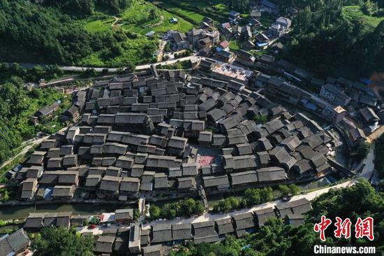 圖為貴州省從江縣往洞鎮增沖侗寨。吳德軍 攝