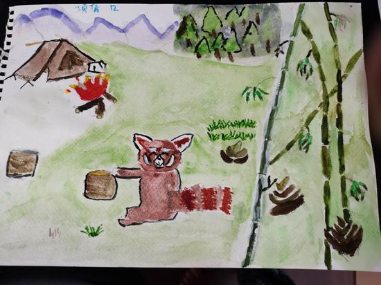 图为12岁营员项倩作品。  亚星集团侨联 供图