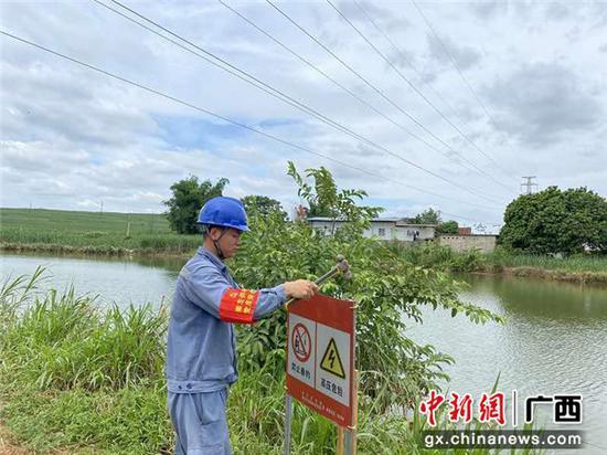广西崇左志愿者深入田间地头宣传涉电公共安全