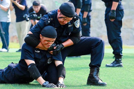 活动现场。萧山警方 供图