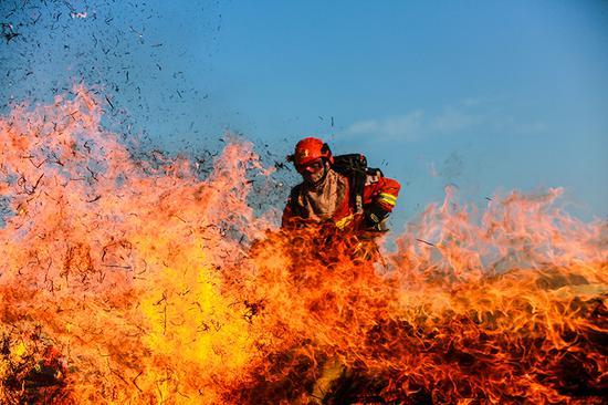 灭火机具操作与使用。