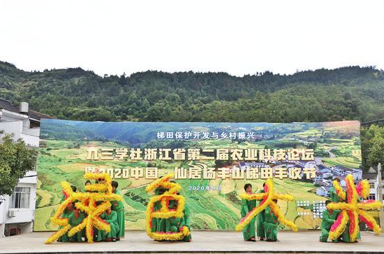 2020中国·仙居杨丰山梯田丰收节 。应芳露 摄